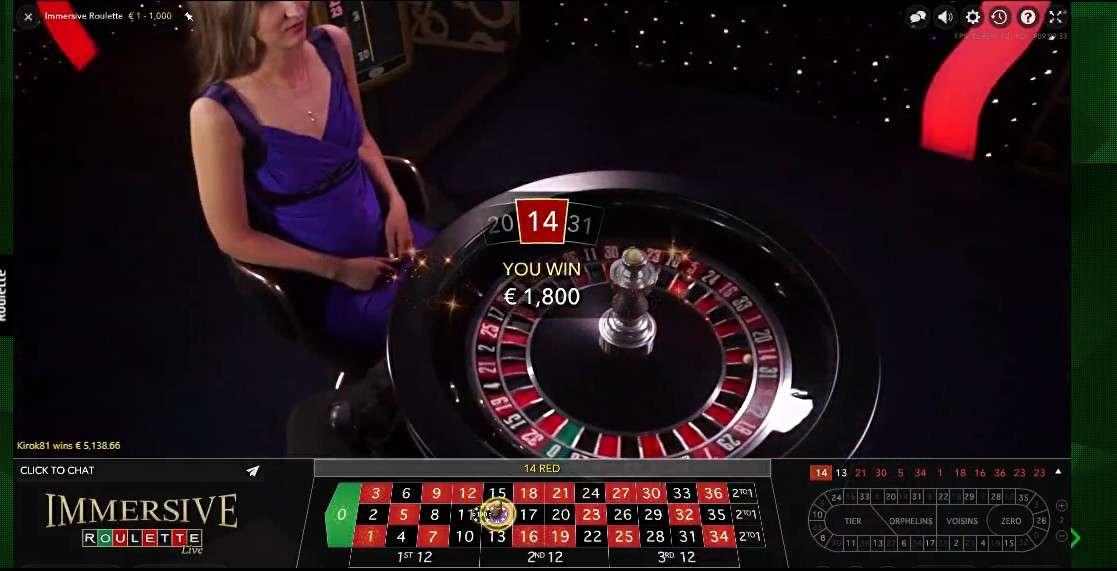 рулетка в казино малина